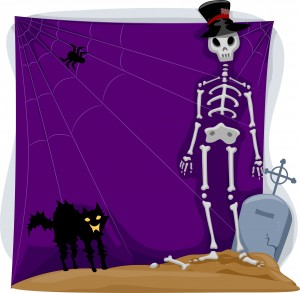 Halloween Skeleton Background